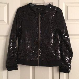 Jackets & Blazers - Women's black sequin jacket